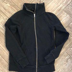 J. Crew double zipper black sweatshirt